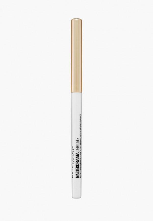 карандаш для глаз maybelline new york, серый