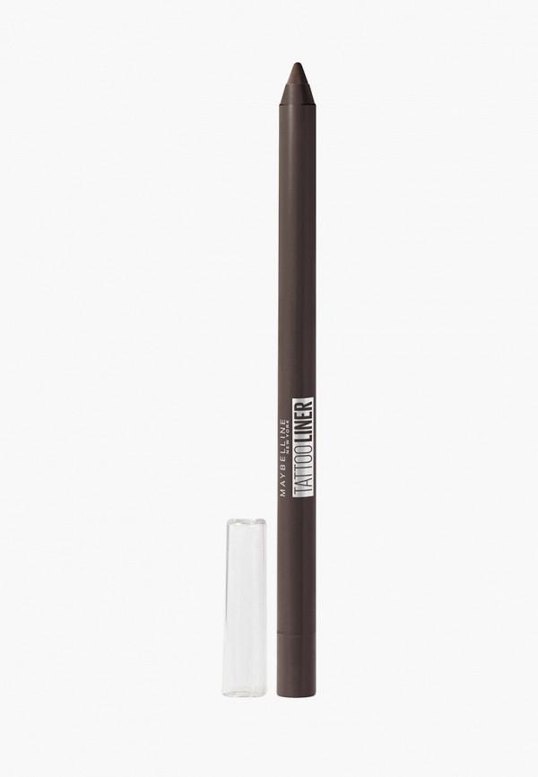 карандаш для глаз maybelline new york, коричневый