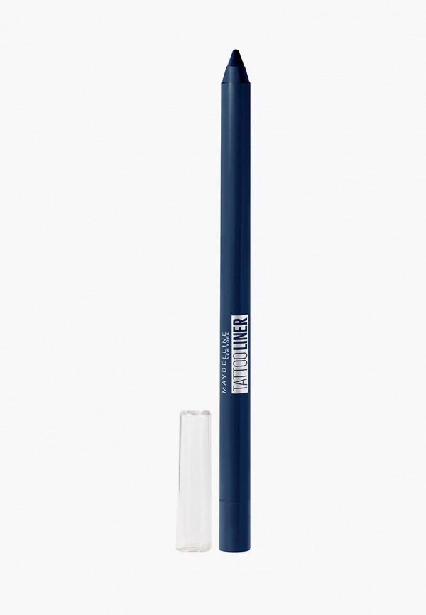 карандаш для глаз maybelline new york, синий
