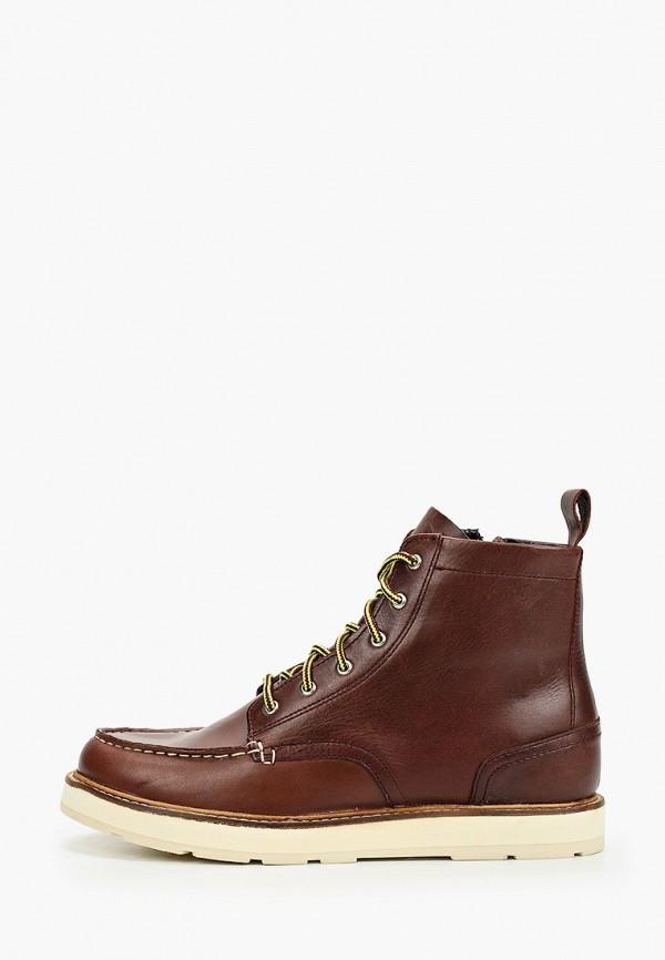 ботинки mango kids для мальчика, коричневые
