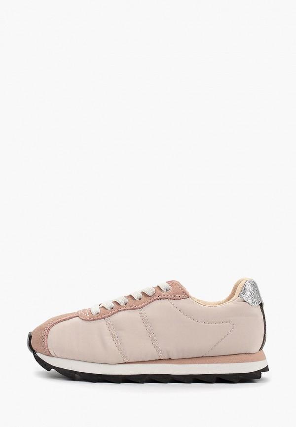 кроссовки mango kids для девочки, розовые