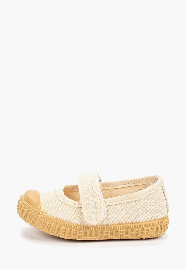 туфли mango kids для девочки, бежевые