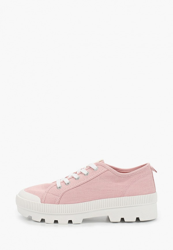 ботинки mango kids для девочки, розовые