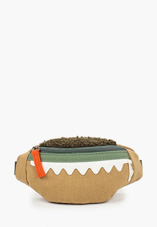 сумка mango kids для мальчика, коричневая