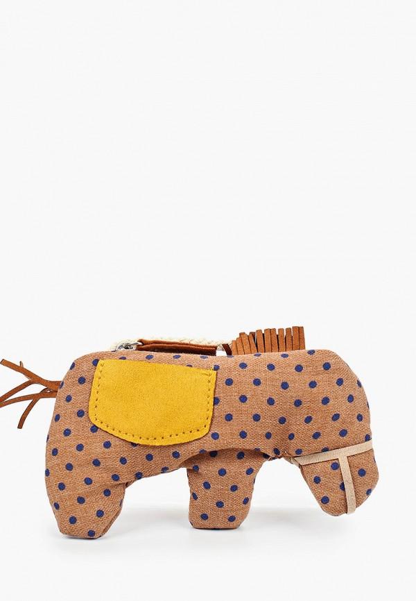 сумка mango kids для девочки, коричневая
