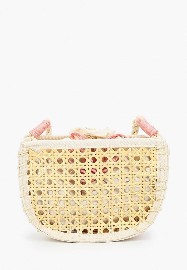 сумка mango kids для девочки, бежевая