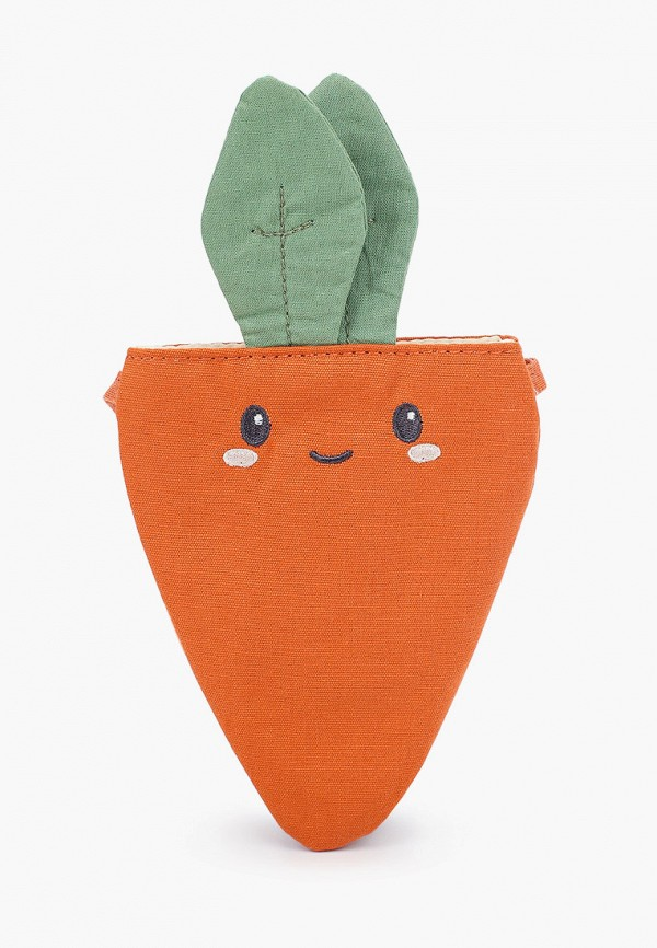сумка mango kids для девочки, оранжевая