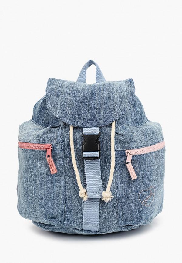 рюкзак mango kids для девочки, голубой