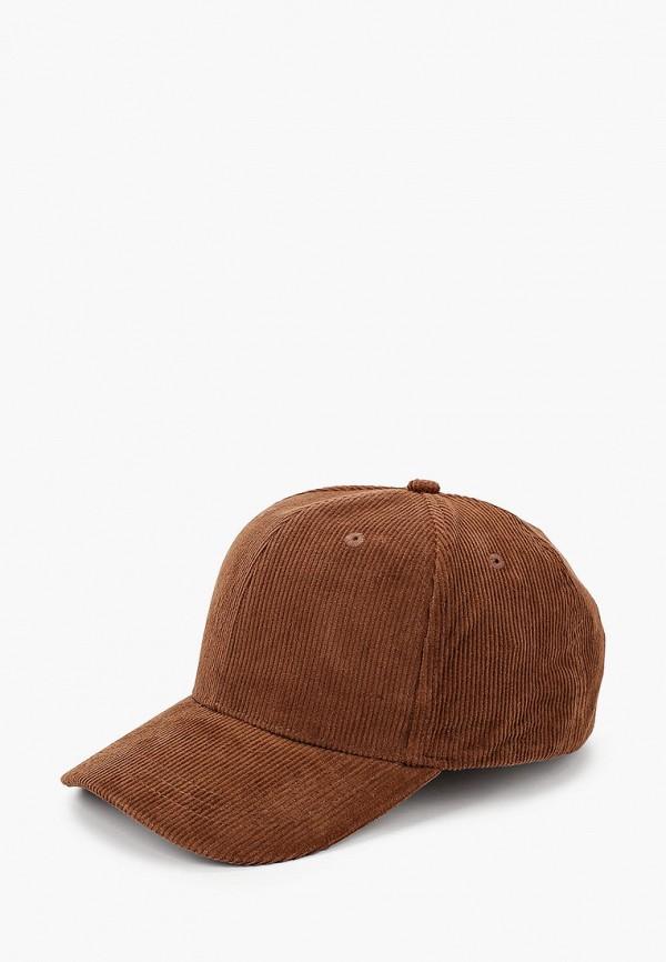 кепка mango kids для мальчика, коричневая
