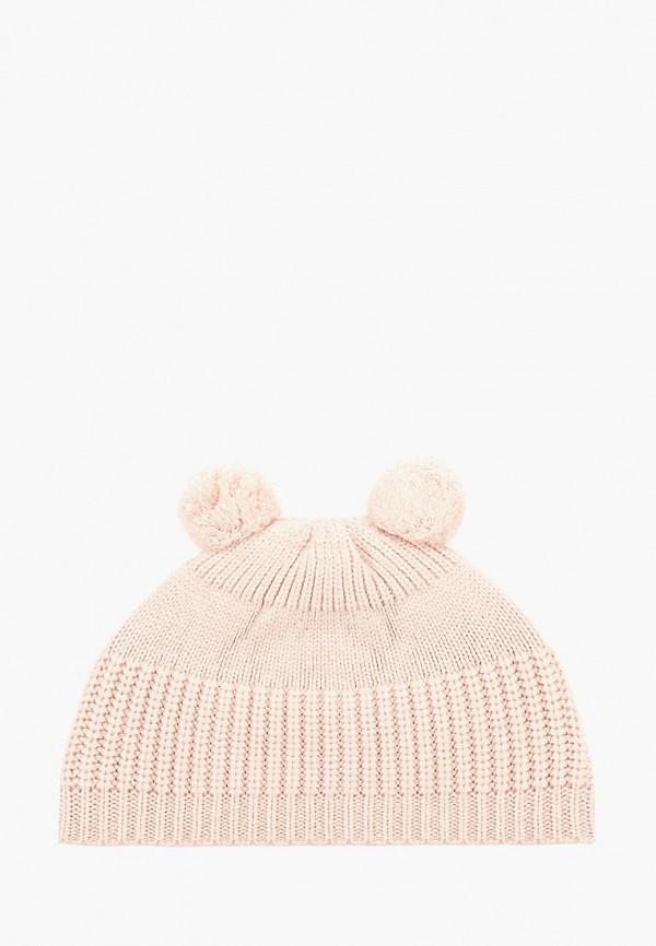 шапка mango kids для девочки, розовая