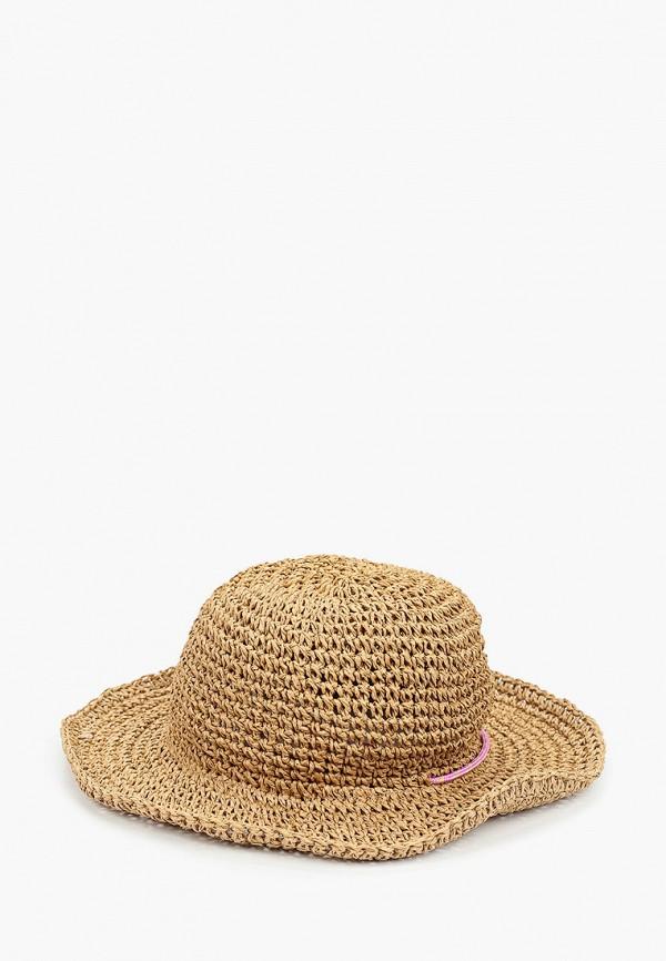 шляпа mango kids для девочки, коричневая