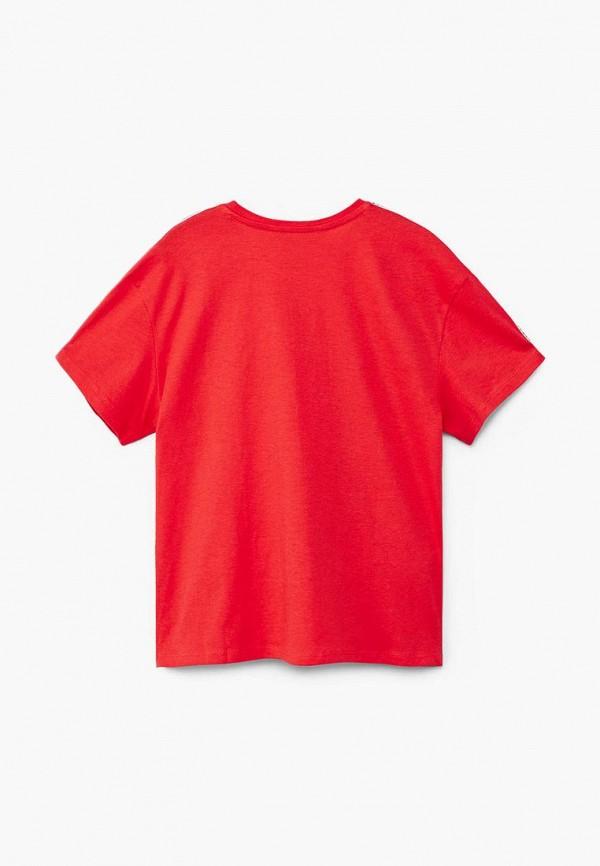 Фото 2 - Футболку Mango Kids красного цвета
