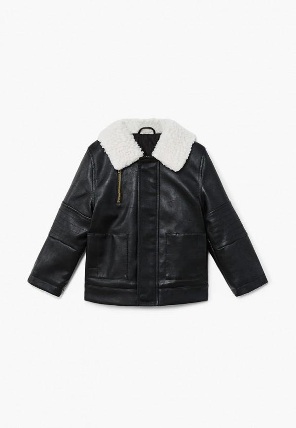 Купить Куртка кожаная Mango Kids, - BLOOM, ma018ebcoly9, черный, Осень-зима 2018/2019