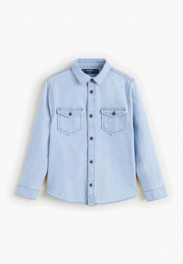 Рубашка джинсовая Mango Kids Mango Kids MA018EBELHU2 шорты mango kids mango kids ma018egdkhn2