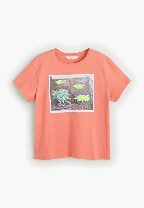 Фото - Футболку Mango Kids оранжевого цвета