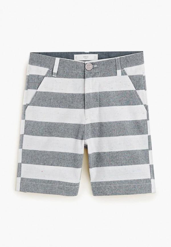 шорты mango kids для мальчика, серые