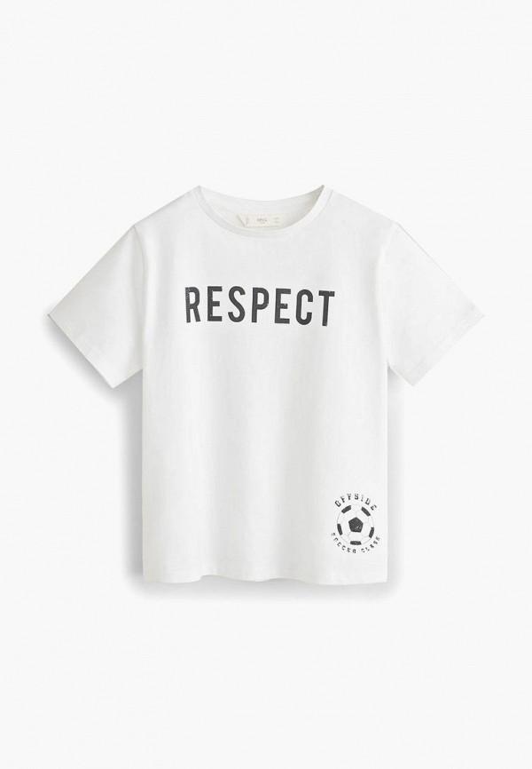 Купить Футболку Mango Kids белого цвета