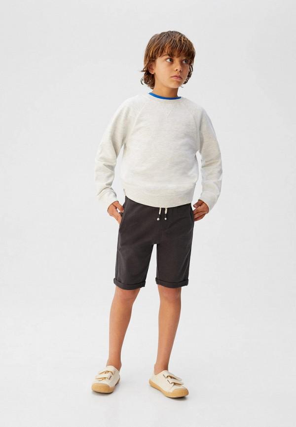 Фото 4 - Шорты Mango Kids серого цвета
