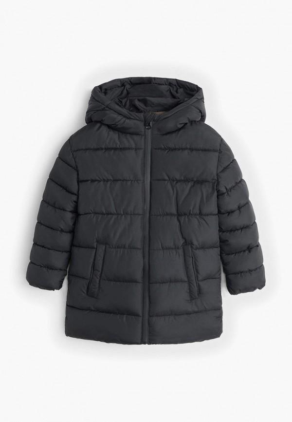 куртка mango kids для мальчика, черная