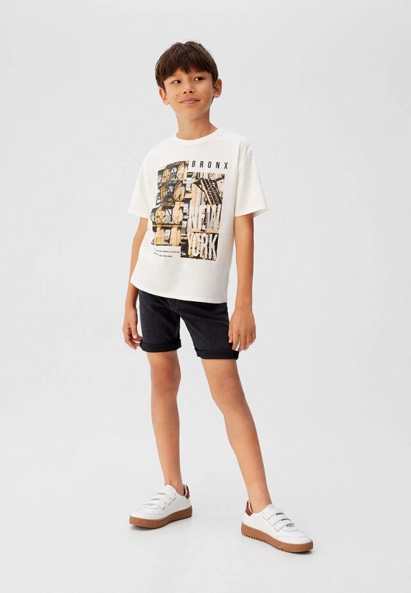 Фото 3 - Шорты джинсовые Mango Kids черного цвета