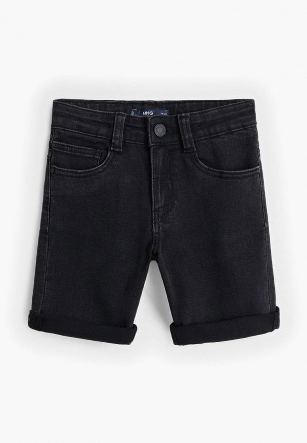 шорты mango kids для мальчика, черные