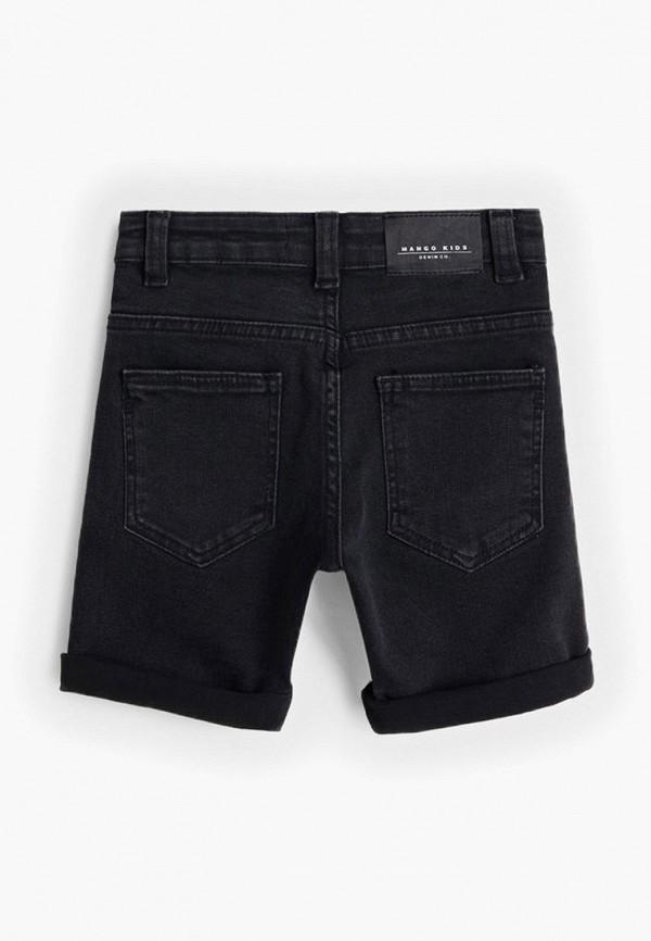 Фото 2 - Шорты джинсовые Mango Kids черного цвета