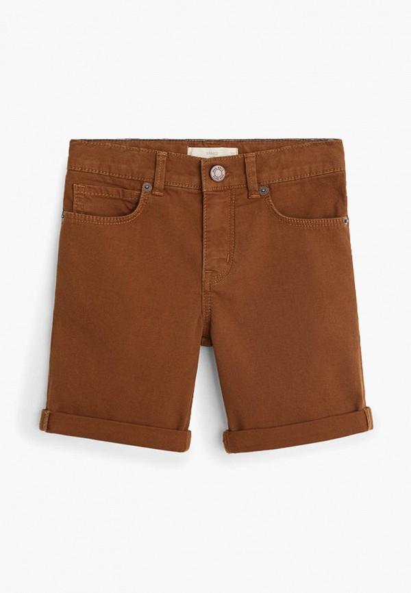 шорты mango kids для мальчика, коричневые