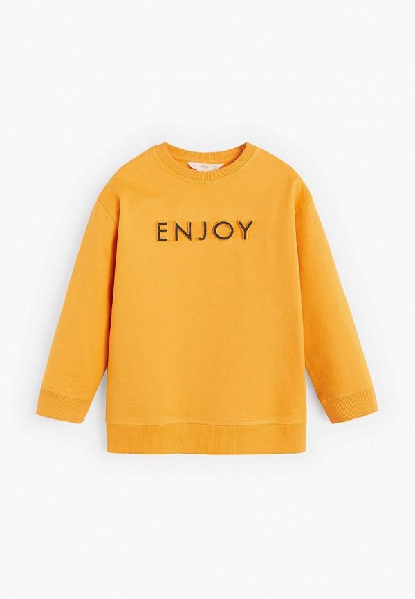 свитшот mango kids для мальчика, желтый
