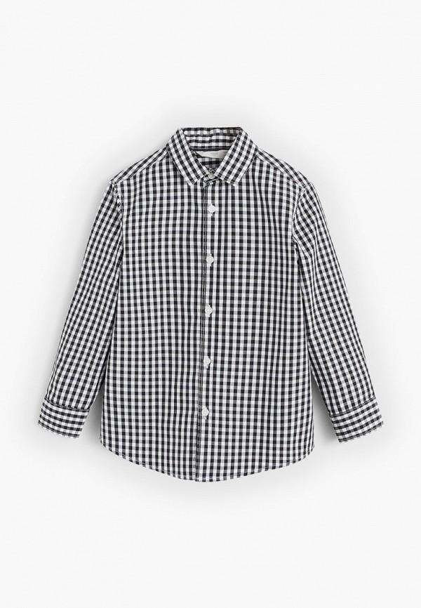 рубашка mango kids для мальчика, черная