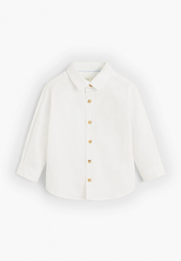 рубашка mango kids для мальчика, белая
