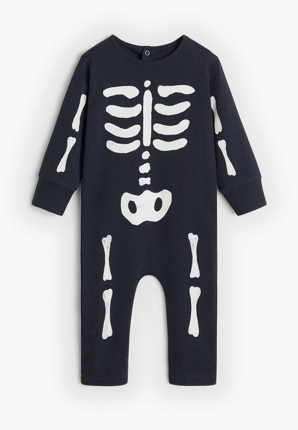 пижама mango kids для мальчика, черная