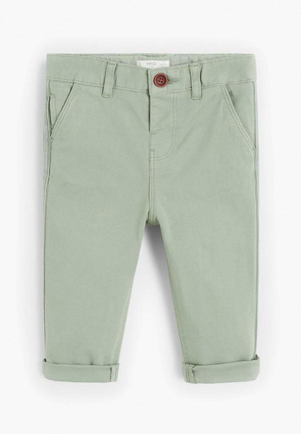 брюки mango kids для мальчика, зеленые