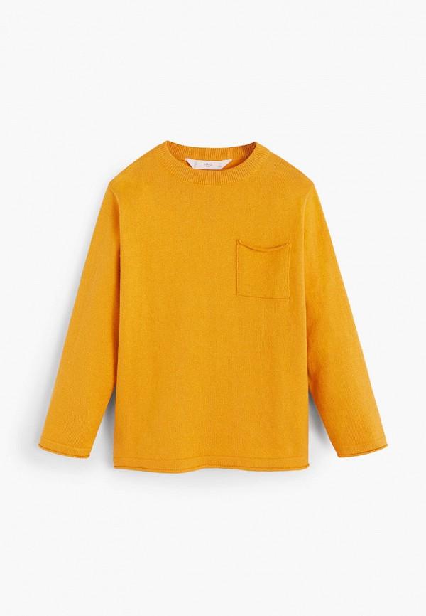джемпер mango kids для мальчика, оранжевый