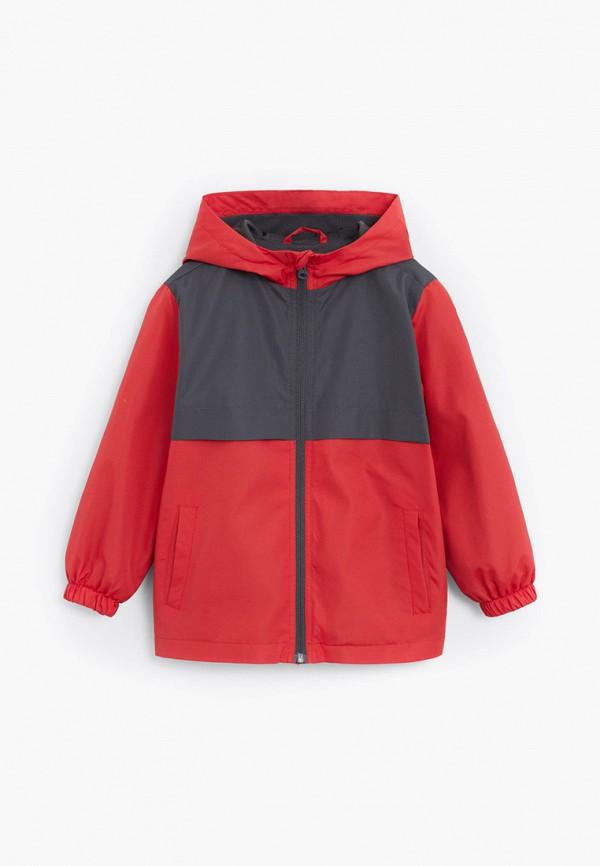 куртка mango kids для мальчика, красная