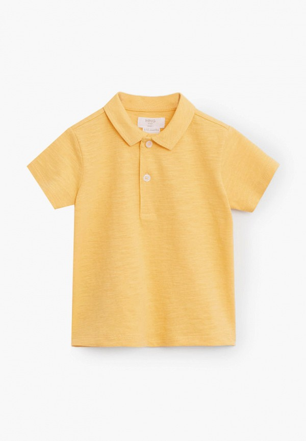 поло mango kids для мальчика, желтое