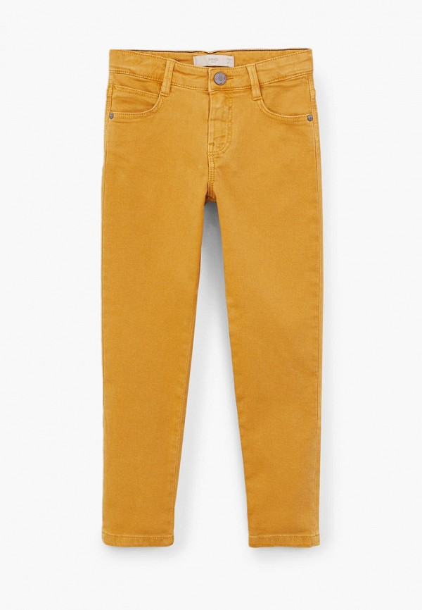 брюки mango kids для мальчика, желтые
