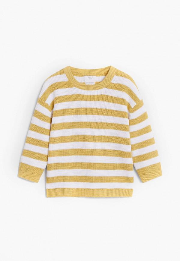 джемпер mango kids для мальчика, желтый