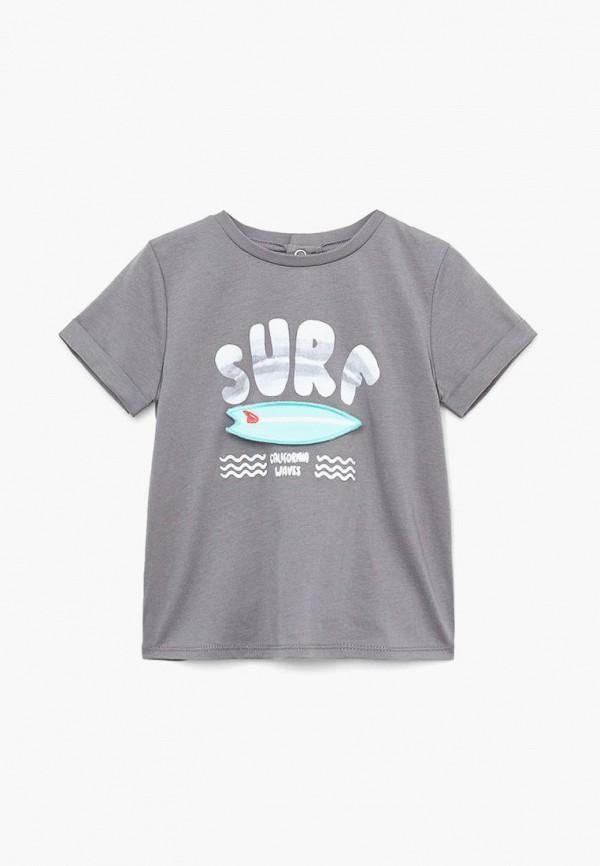 футболка с коротким рукавом mango kids для мальчика, серая