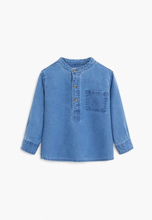 джинсовые рубашка mango kids для мальчика, синяя