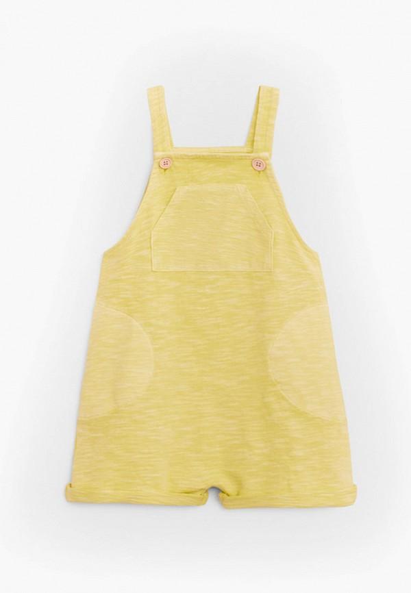комбинезон с брюками mango kids для мальчика, желтый