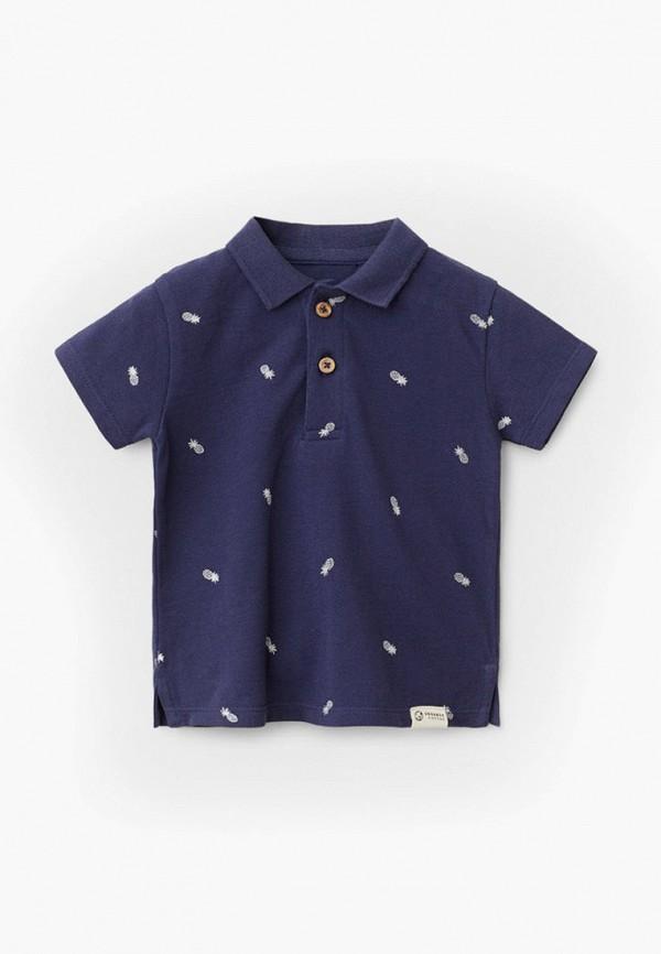 поло mango kids для мальчика, синее