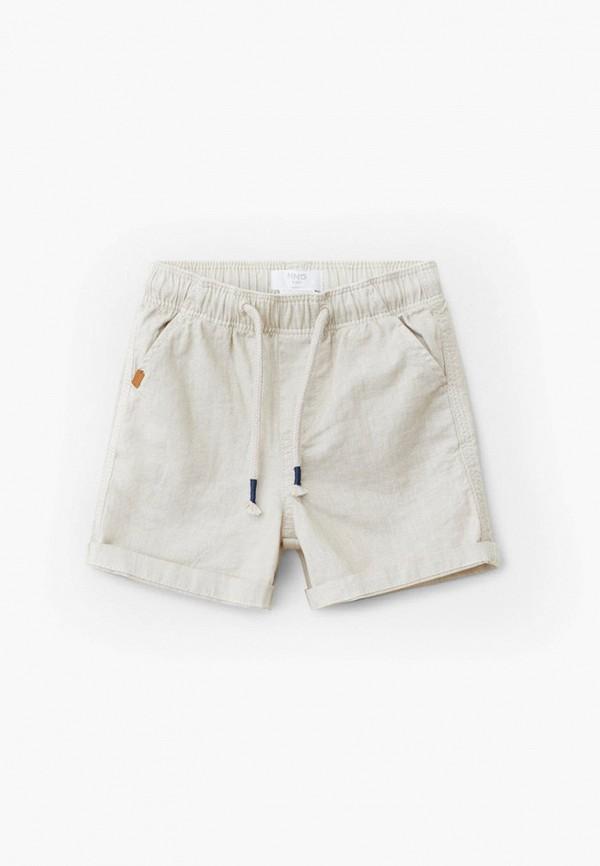 шорты mango kids для мальчика, бежевые