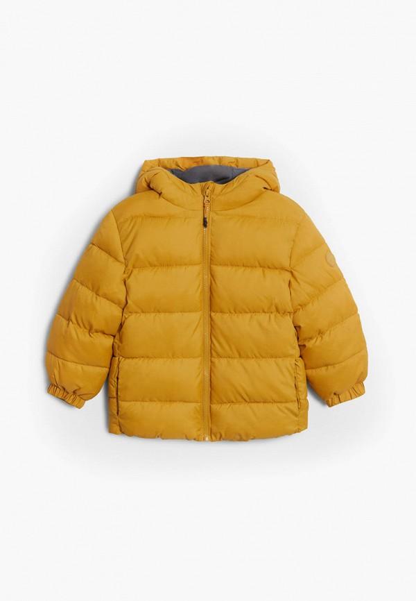 куртка mango kids для мальчика, желтая