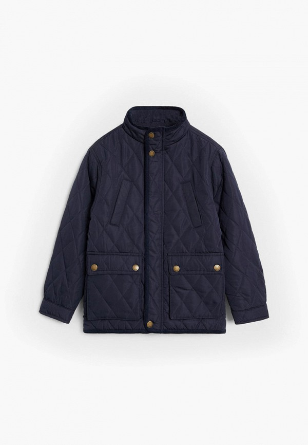 куртка mango kids для мальчика, синяя