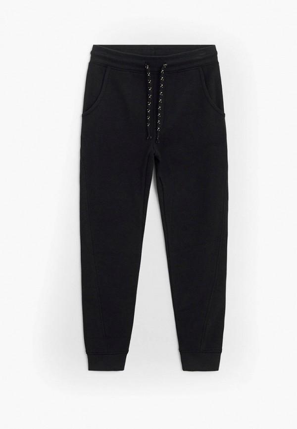 спортивные брюки mango kids для мальчика, черные