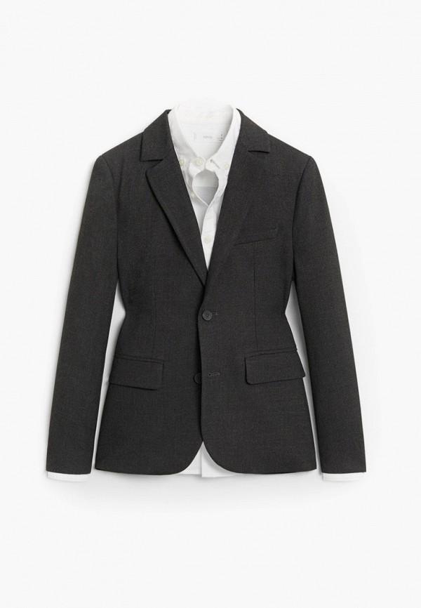 пиджак mango kids для мальчика, серый