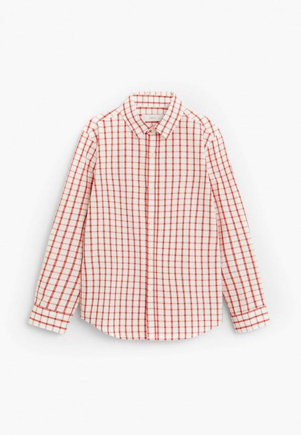 рубашка mango kids для мальчика, красная