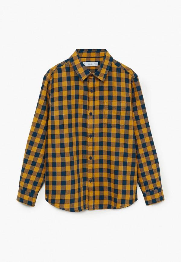 рубашка mango kids для мальчика, разноцветная
