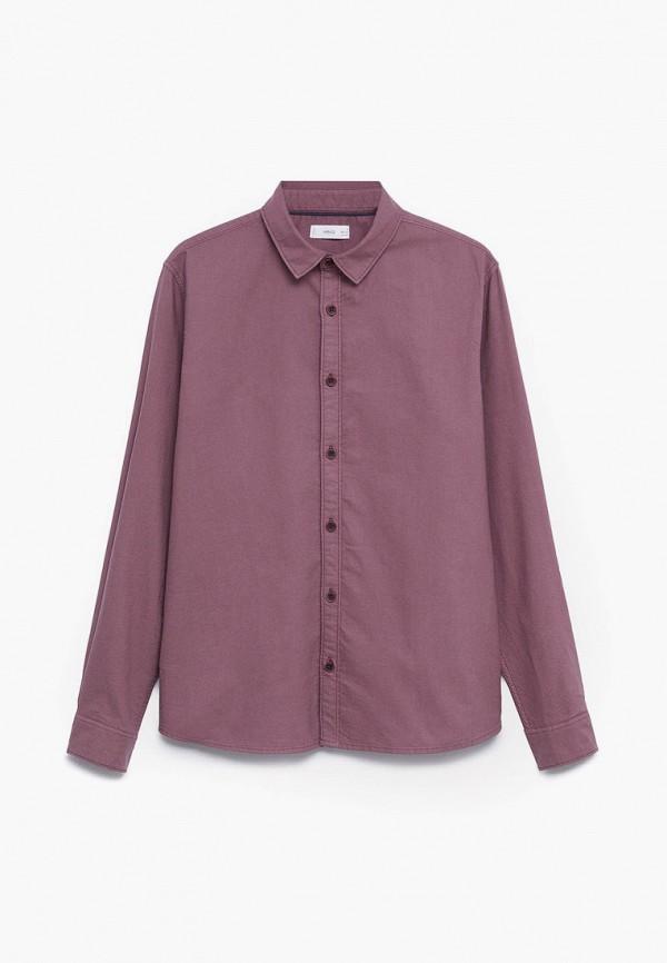 рубашка mango kids для мальчика, розовая