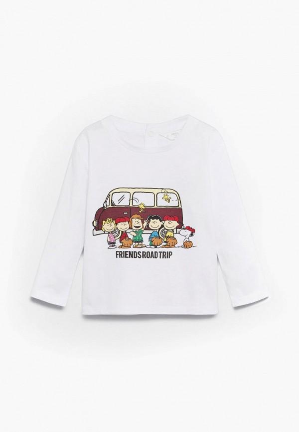 футболка с коротким рукавом mango kids для мальчика, белая